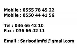 contact sarl sodimfel